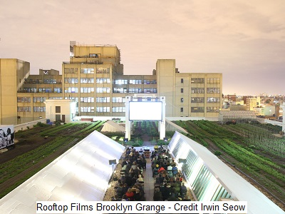 סרטים תחת הכוכבים בפארקים ועל גגות – Rooftop Films