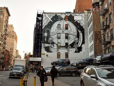 אמנות רחוב בסוהו בעברית